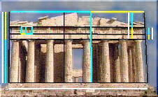 The Parthenon illustrates design based on phi, the golden ratio