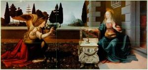 Leonardo-da-Vincis-The-Annunciation-divine-proportion