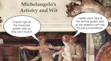 """Discovery of the Golden Ratio in Michelangelo's """"The Creation of Adam."""""""