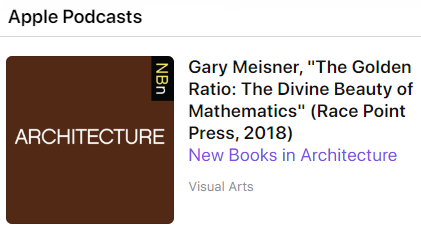 NBN Architecture Podcast Golden-Ratio Book by Gary Meisner