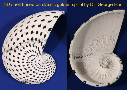 george-hart-3D-golden-spiral-shell