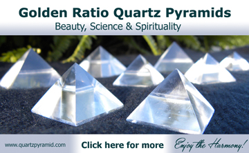 Golden ratio quartz pyramid