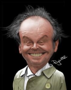 jack nicholson caricature