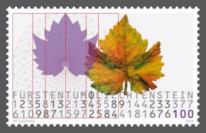 stamp-leichtenstein-design-leaf-circle