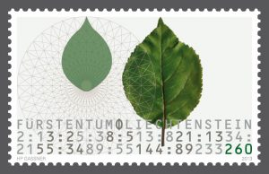 Liechtenstein Fibonacci ratio stamp