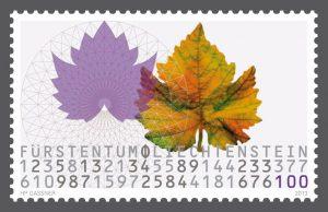 Liechtenstein Fibonacci sequence stamp