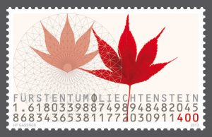 Liechtenstein golden ratio stamp